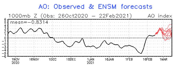 Arctic Oscillation Goes Positive