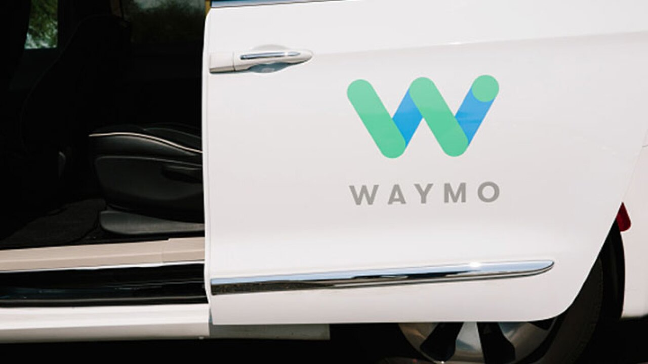 Waymo self-driving vehicle rear-ended in Arizona, no injuries reported
