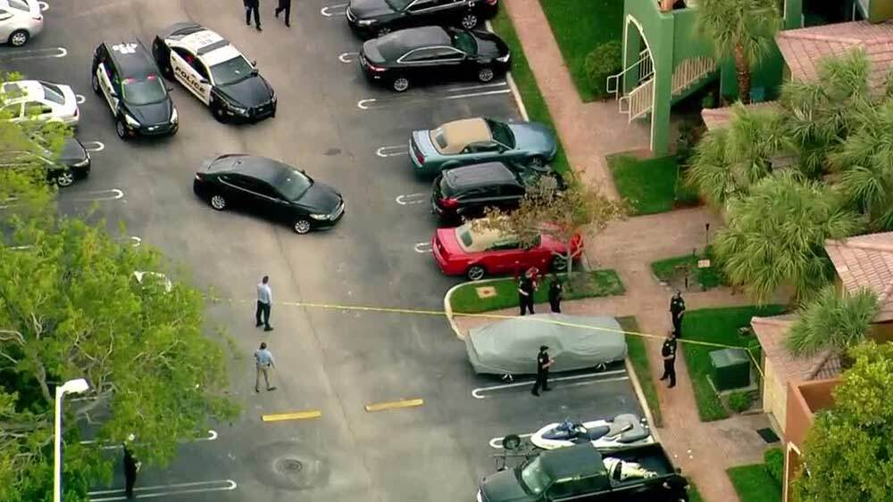 A man was fatally shot by officers after police said the gunman killed a woman April 3, 2019 at the Manatee Bay apartments.