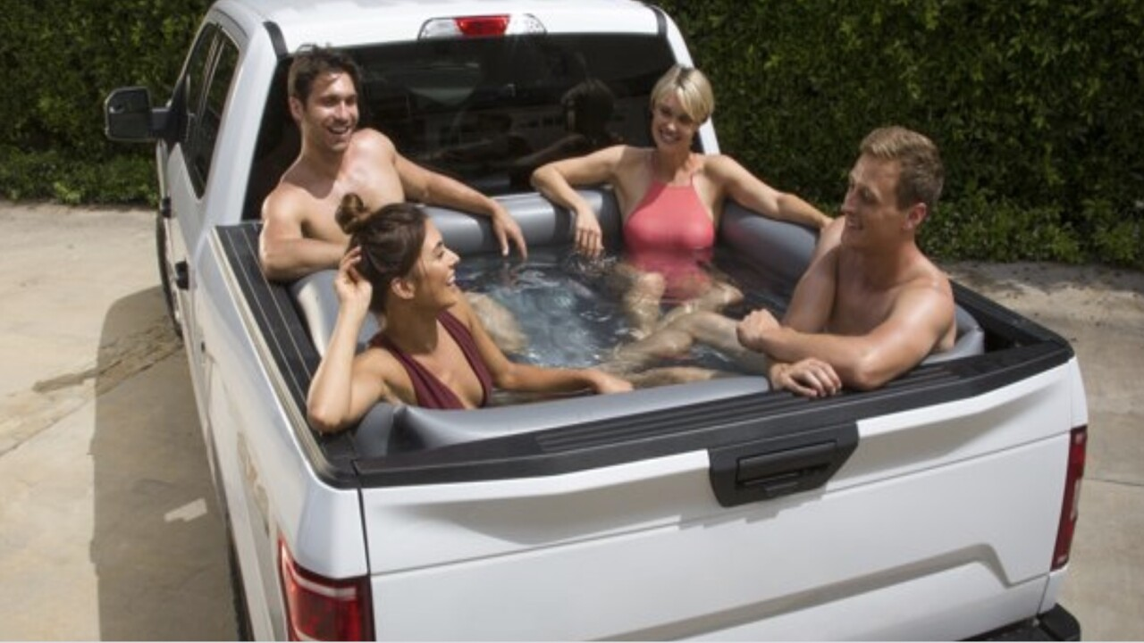 Turn your truck bed into a pool with this $45 inflatable liner