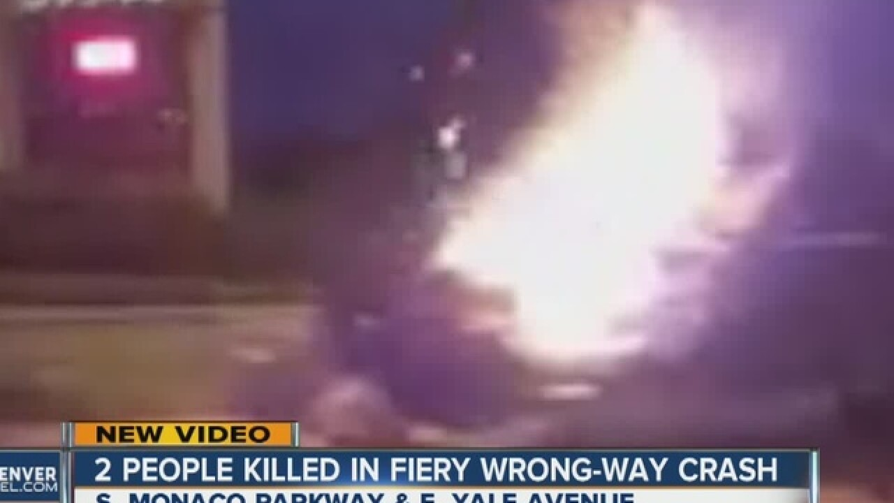 Video shows moments after fiery, wrong-way crash