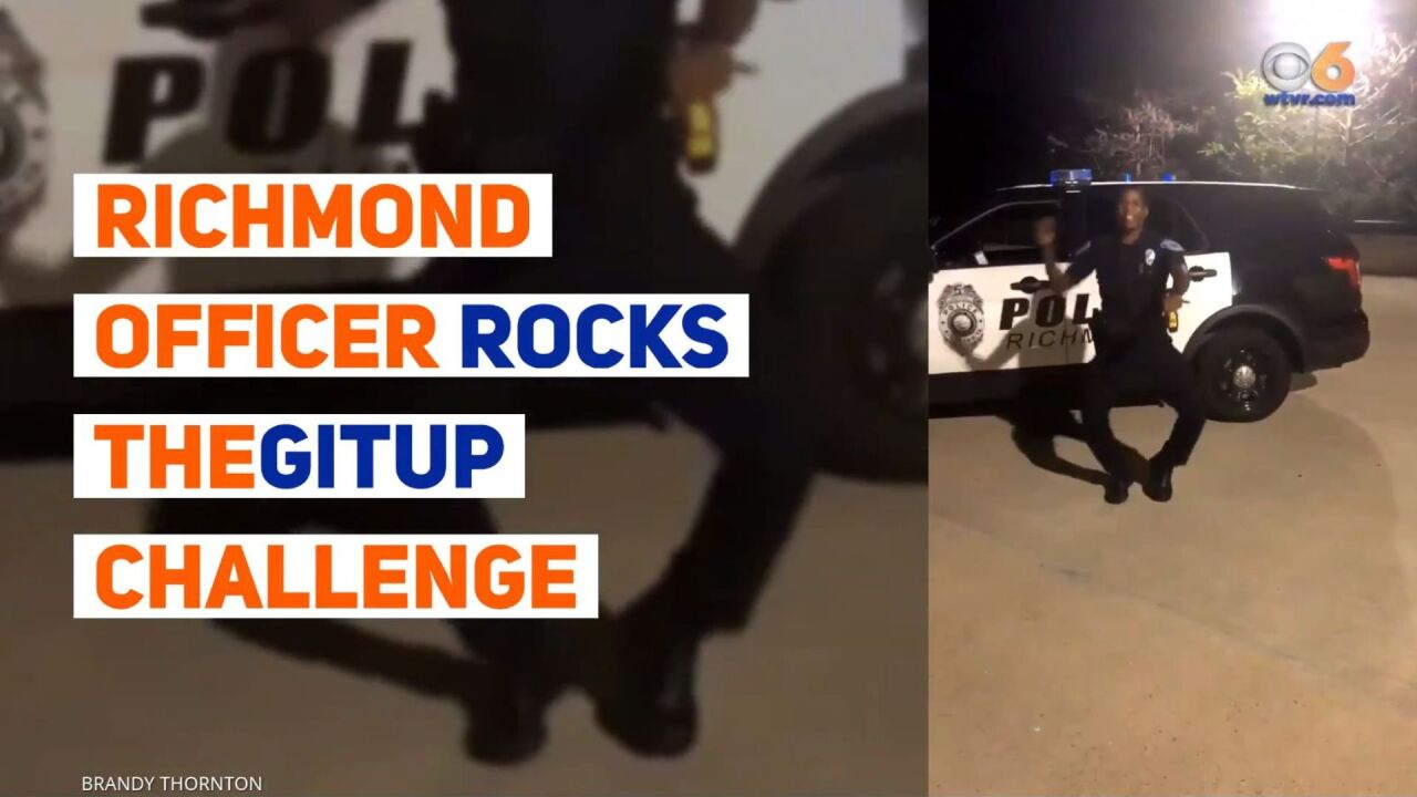 Richmond Police Officer shows off sweet moves in his TheGitUp Dance Challengevideo