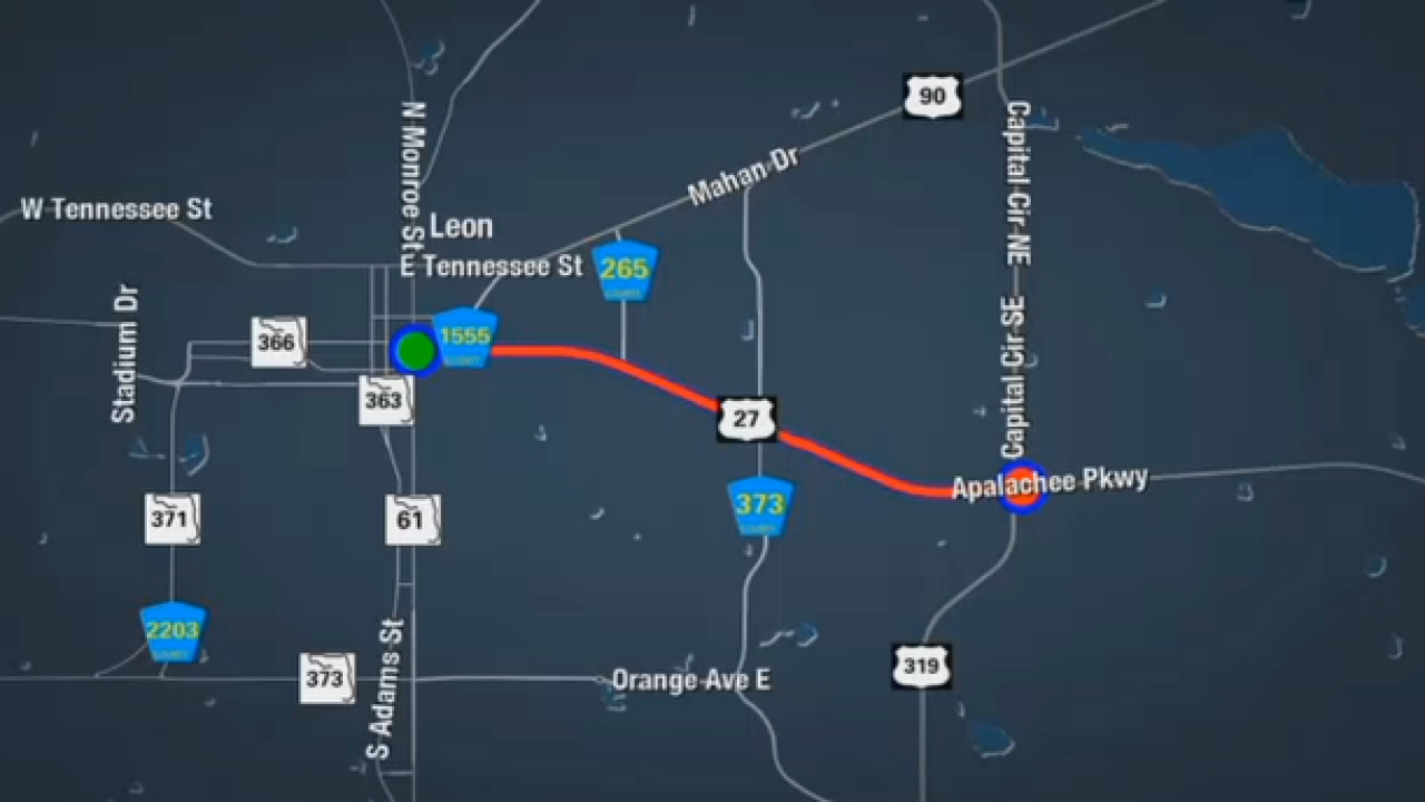 Lane Closures Coming to Leon and Wakulla Counties