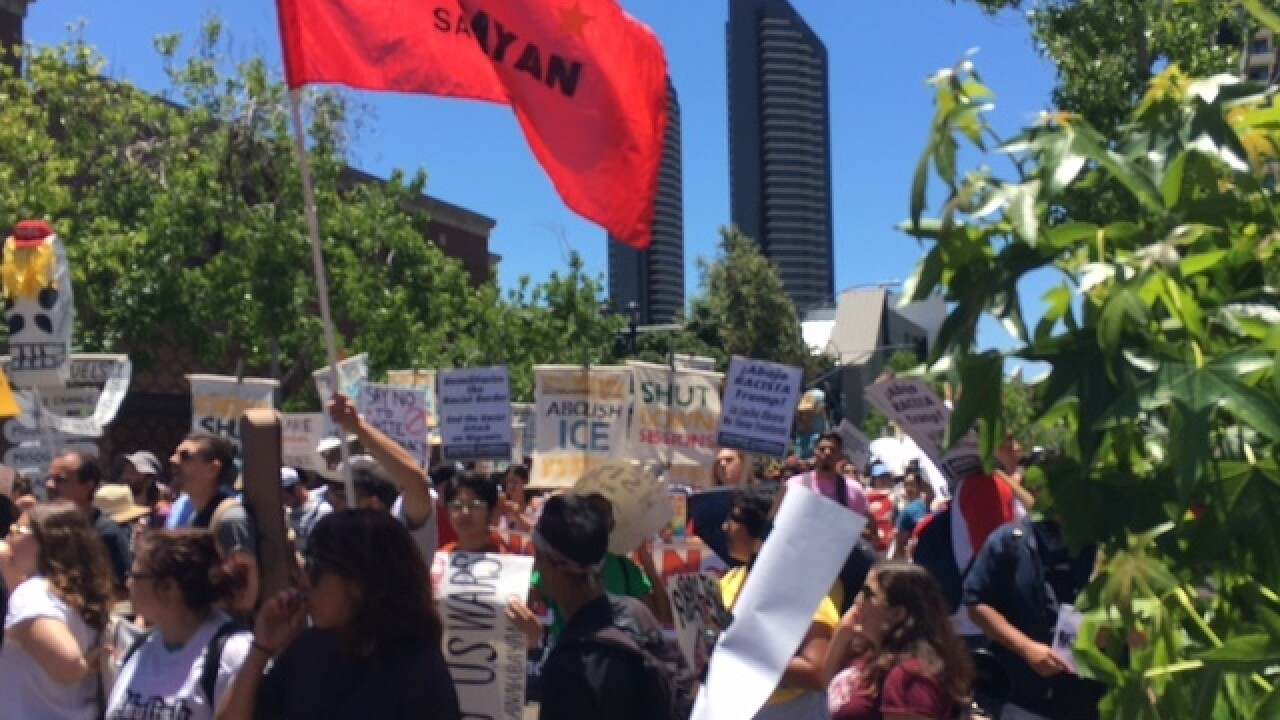 San Diegans march against immigration policies