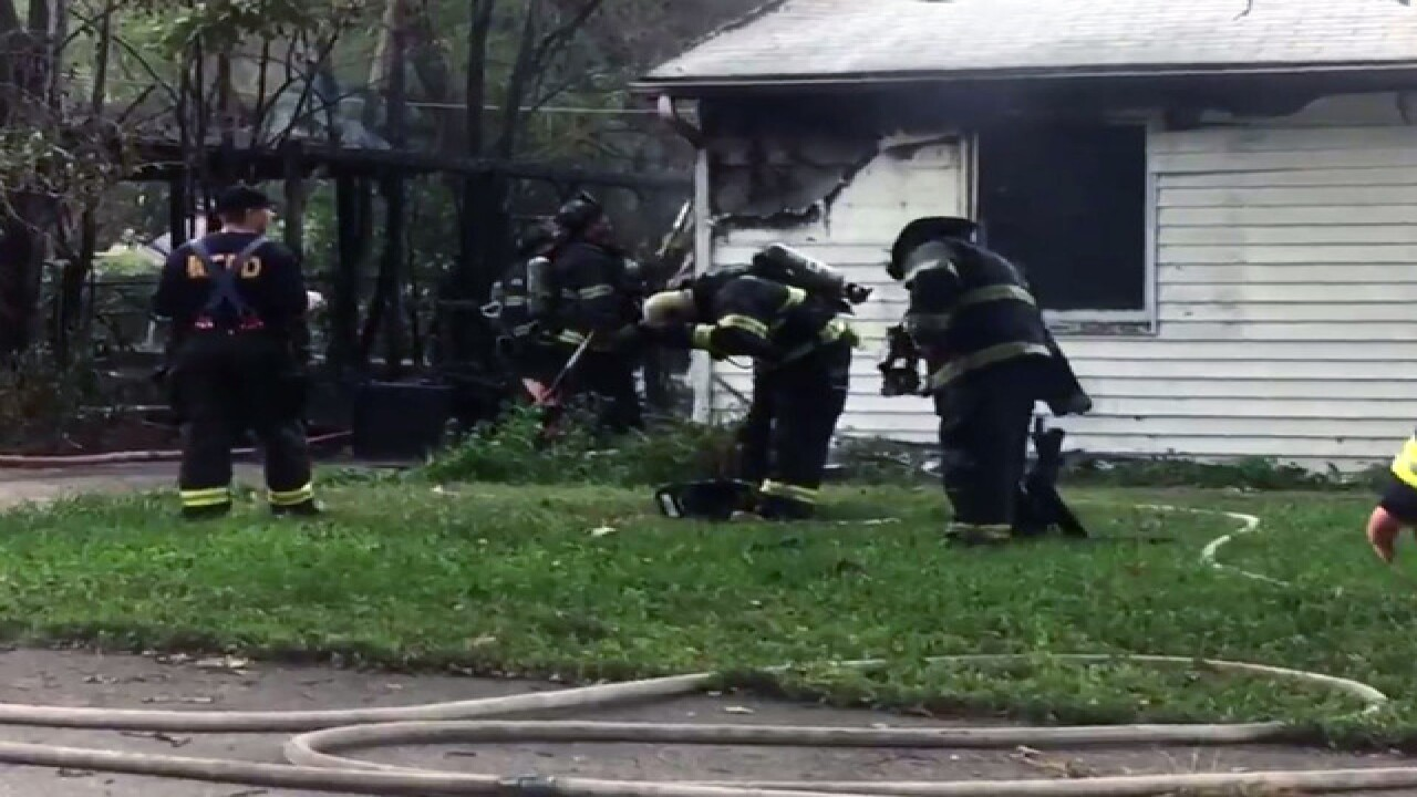 Two houses catch fire in southeast KCMO