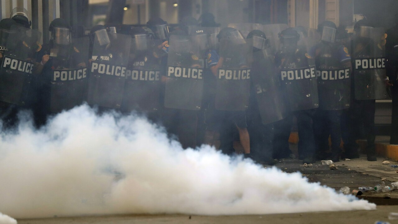 Indiana man sues police after losing eye to tear gas canister during protest