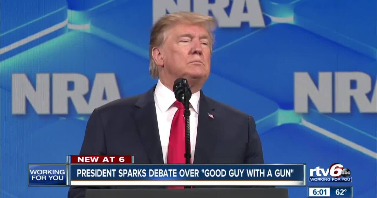 Debate over 'good guy with a gun' rages at NRA convention