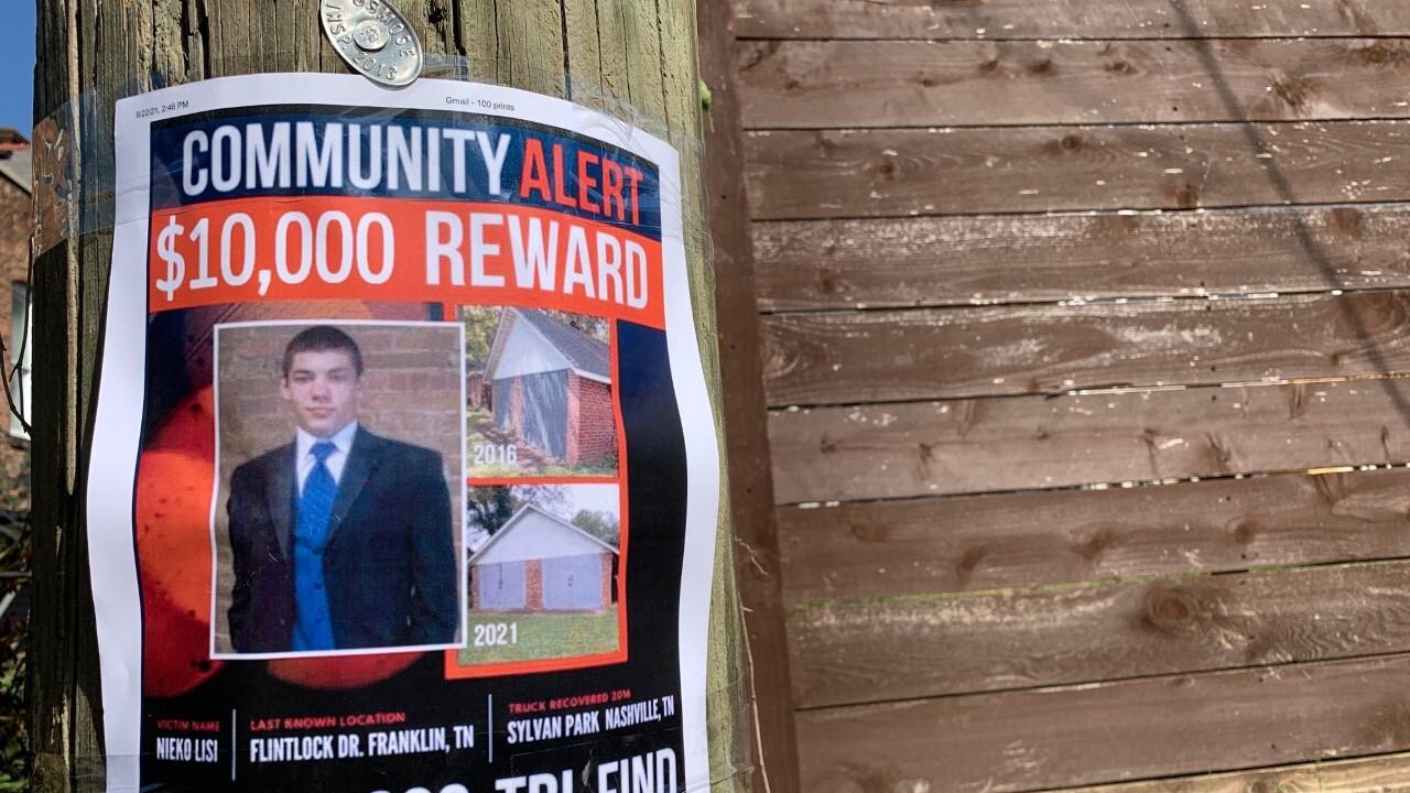 Nieko Lisi missing poster