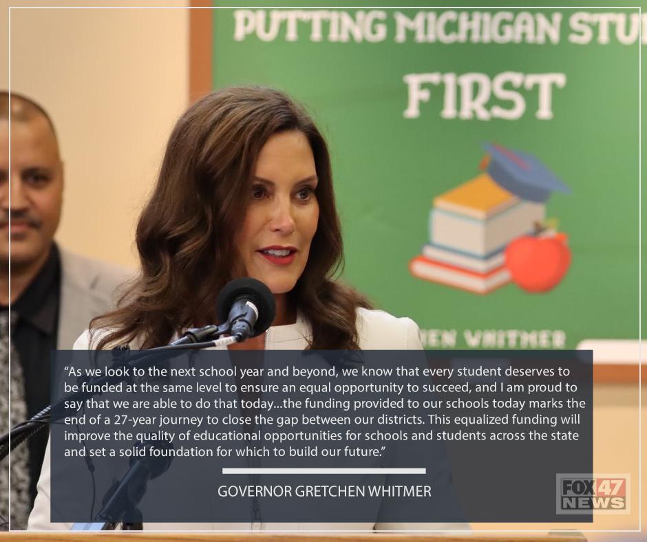 Governor Gretchen Whitmer on K-12 Spending Bill