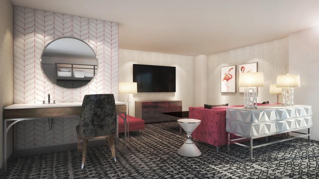 Flamingo Las Vegas_Bunk Bed Room Rendering_Sitting Area.jpg