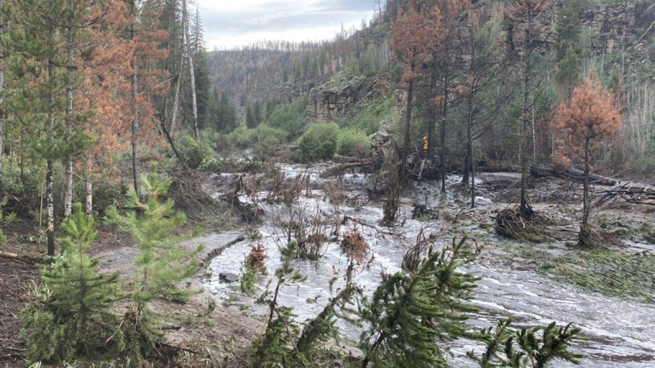 CO 125 flooding July 2021