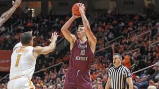 Mayo Scores 23, but EKU Men's Basketball Falls at No. 6 Tennessee