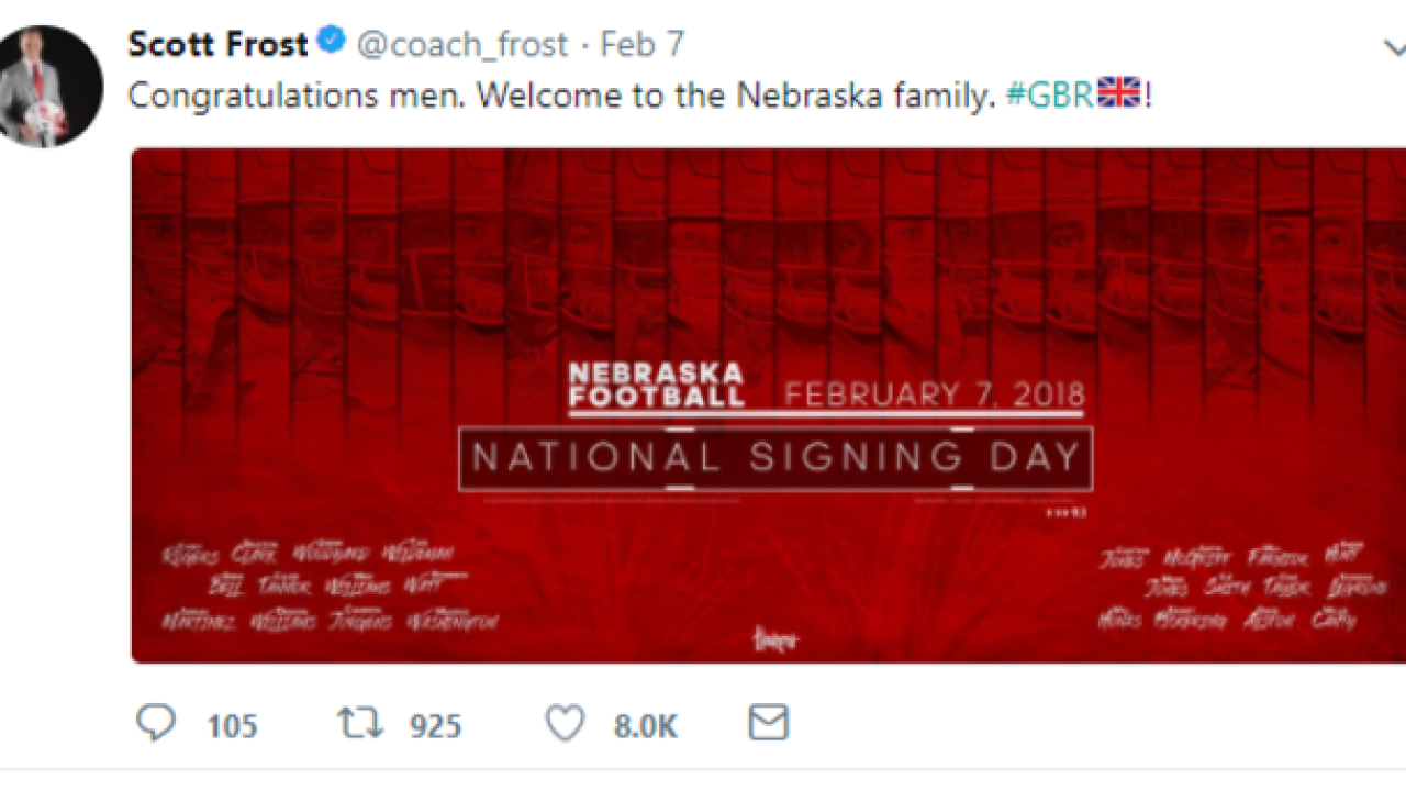 Husker hashtag has a different meaning right now