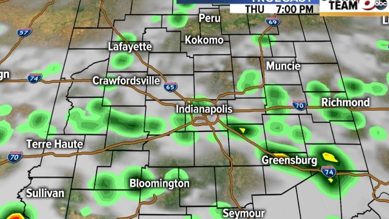 TIMELINE: When to expect rain in central Indiana