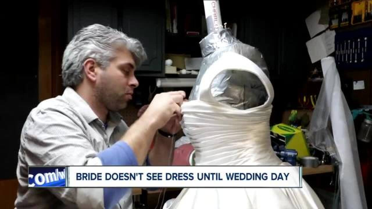 2b8541f1ecec WNY Groom makes his bride s dress - and she doesn t see it until the wedding  day