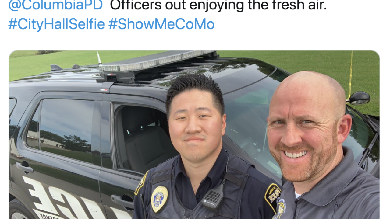 Missouri city apologizes for selfies of officers near where baby's body was found
