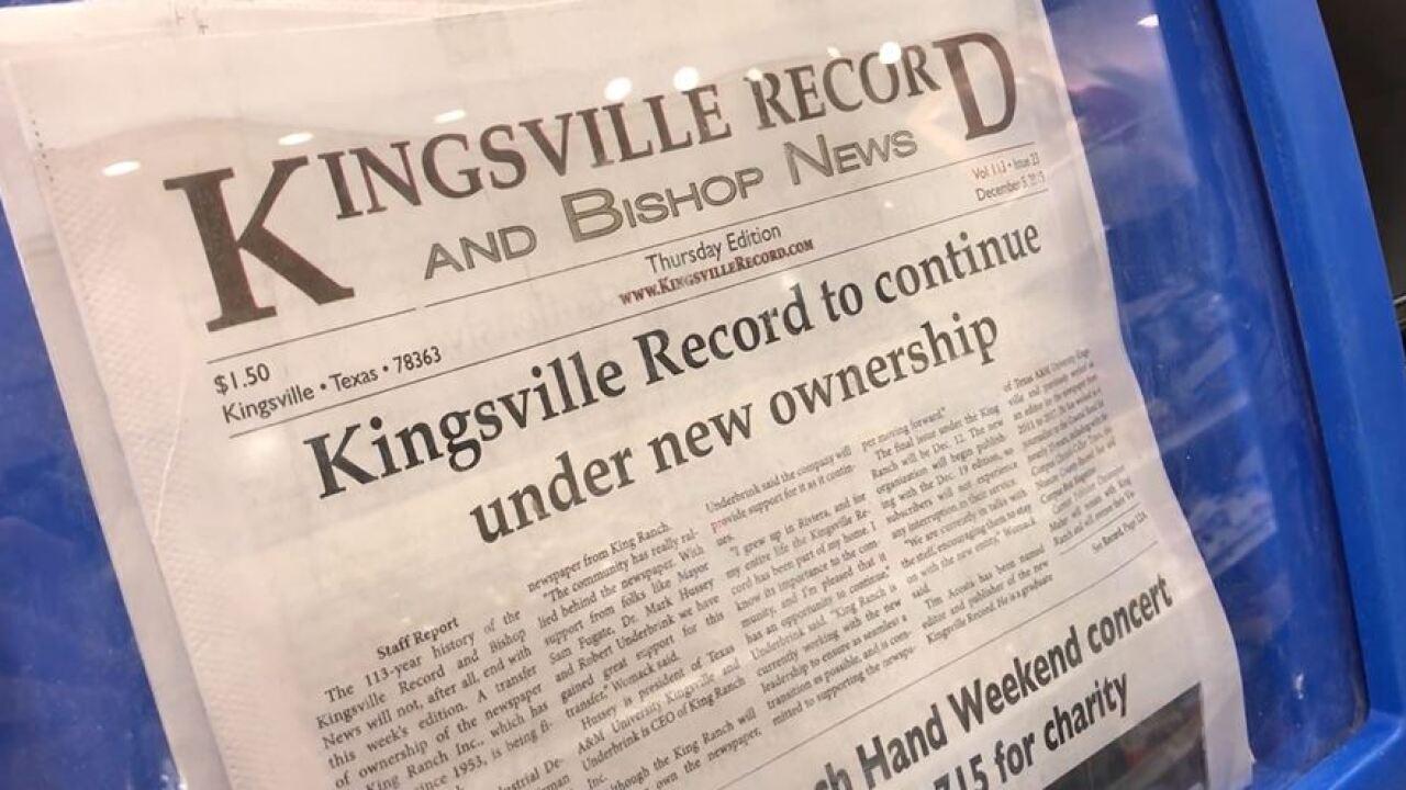 Kingsville Record.JPG