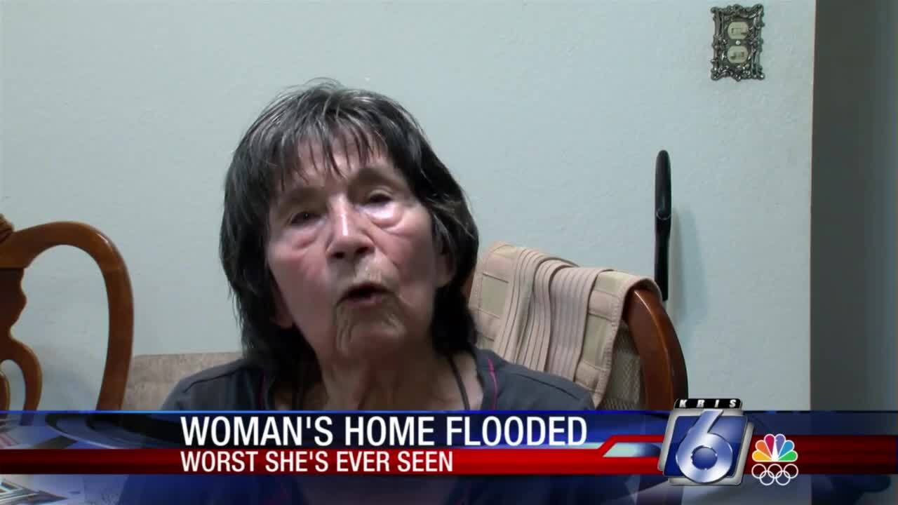 Robstown woman says she's been having trouble with water flowing into her home for years.