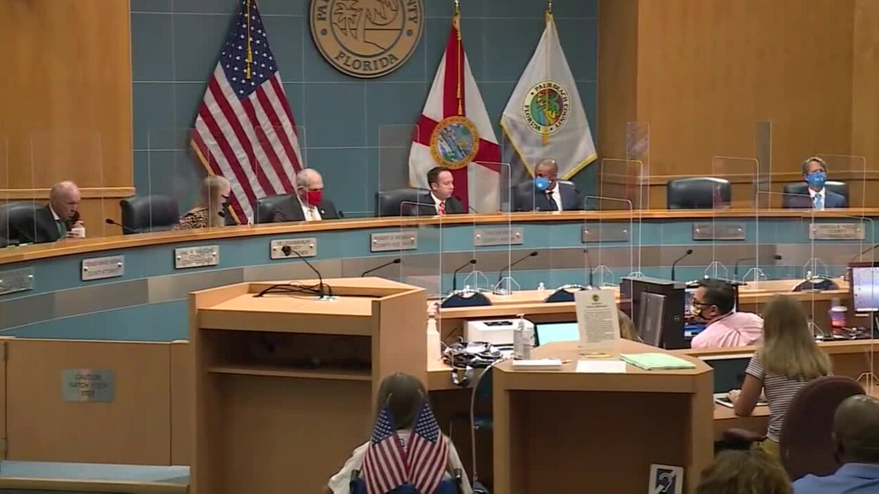 Palm Beach County commissioners discuss moving to Phase Two, Sept. 1, 2020