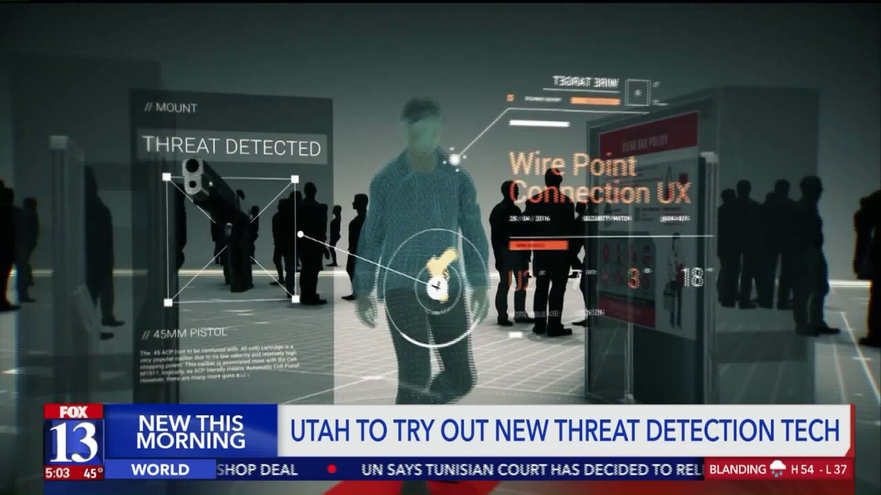 Utah to test new 3D imaging technology to detect potential threats