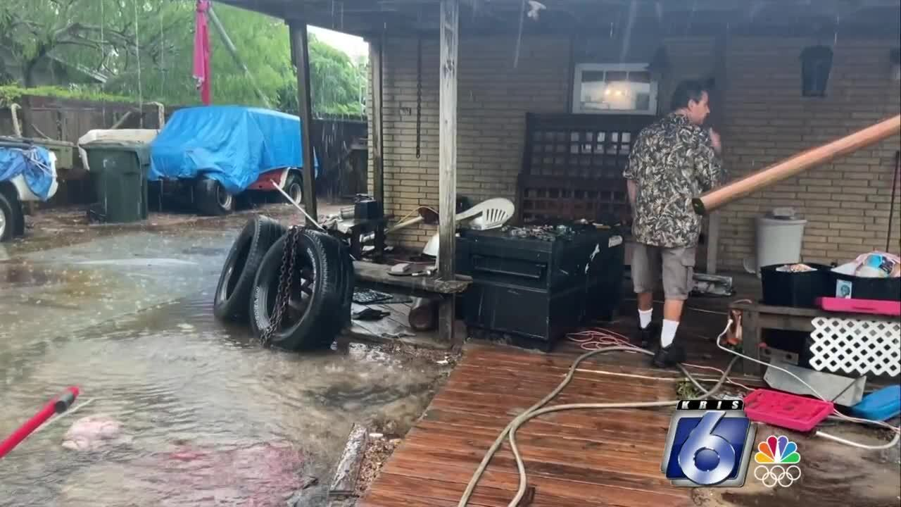 Flooding spreads to Flour Bluff backyards