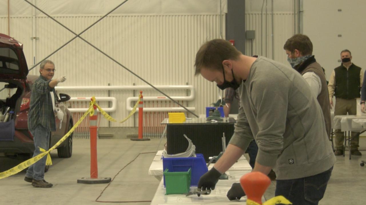 Bridger Aerospace makes face shields for Bozeman Health and emergency responders