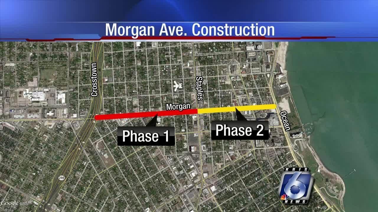 Morgan Avenue construction project map