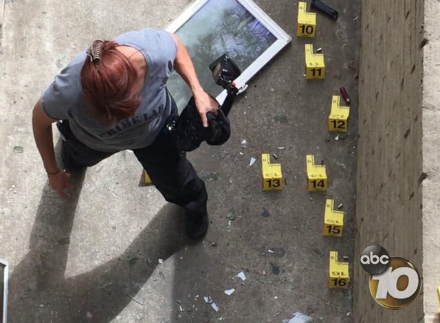 PHOTOS: Two officers shot in Rolando Village