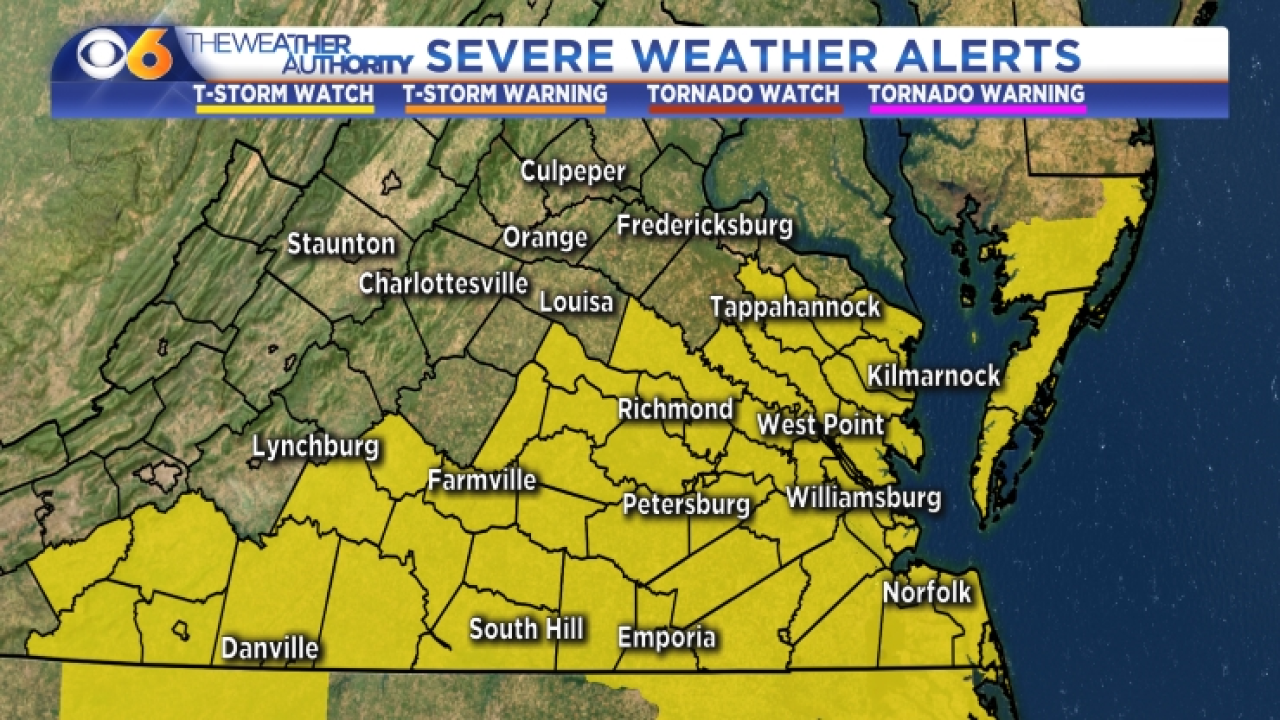 LIVE updates on severe storms with heavy rain, possible damaging windspossible
