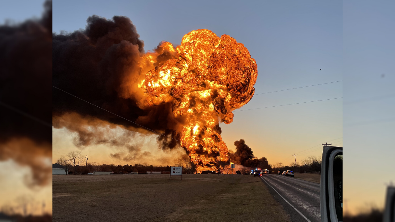 No reported injuries after train, 18-wheeler collision causes massive  explosion outside of Cameron