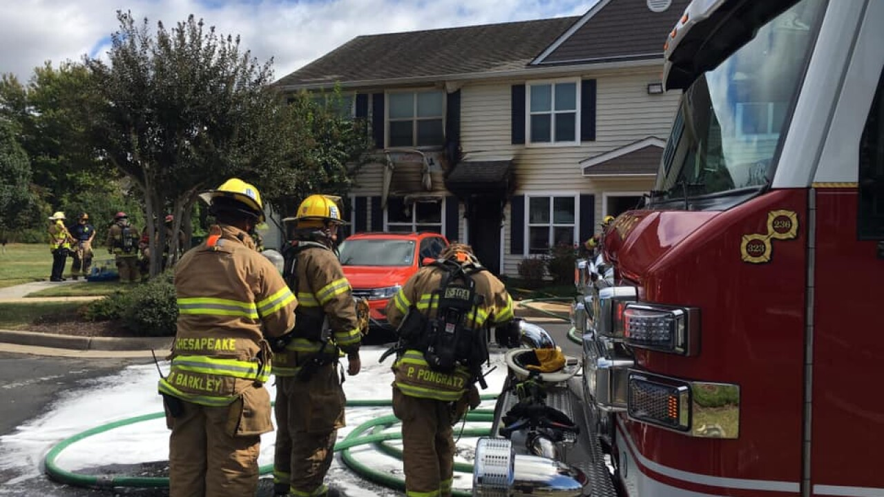 Guinea pigs, bearded dragon rescued from Chesapeake townhouse fire