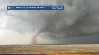 Tornado Near Childress Texas