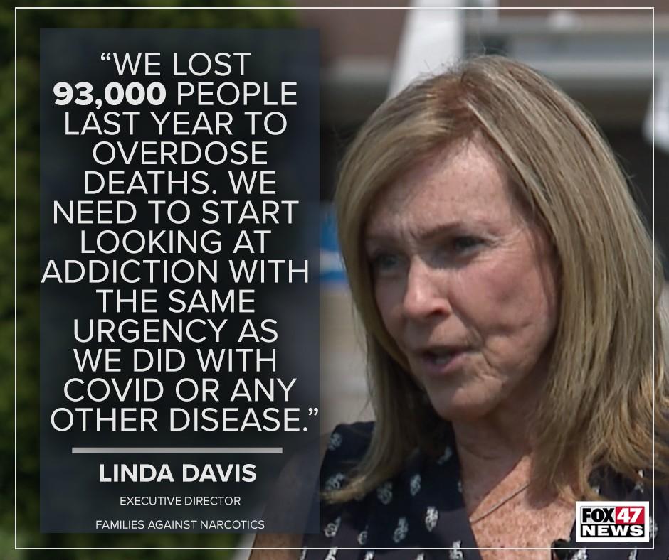 Linda Davis, executive director of Families Against Narcotics