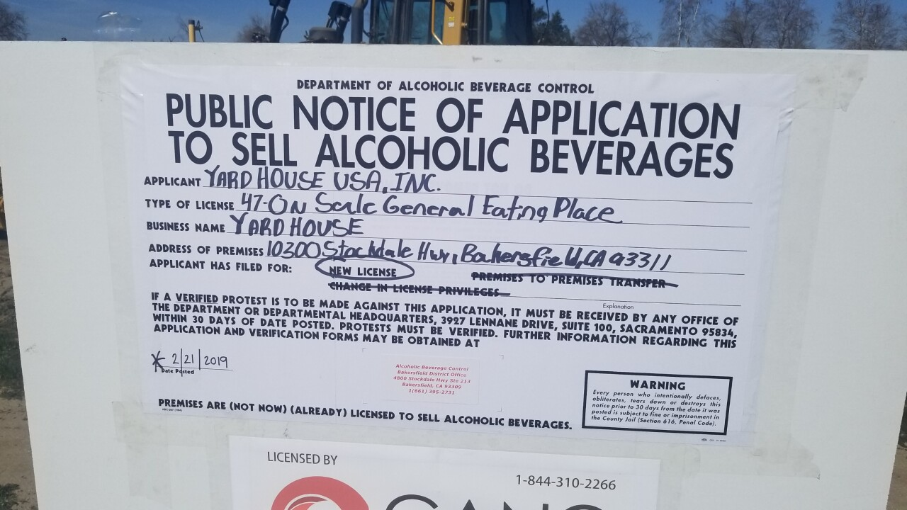 YARD HOUSE MAY BE COMING TO BAKERSFIELD