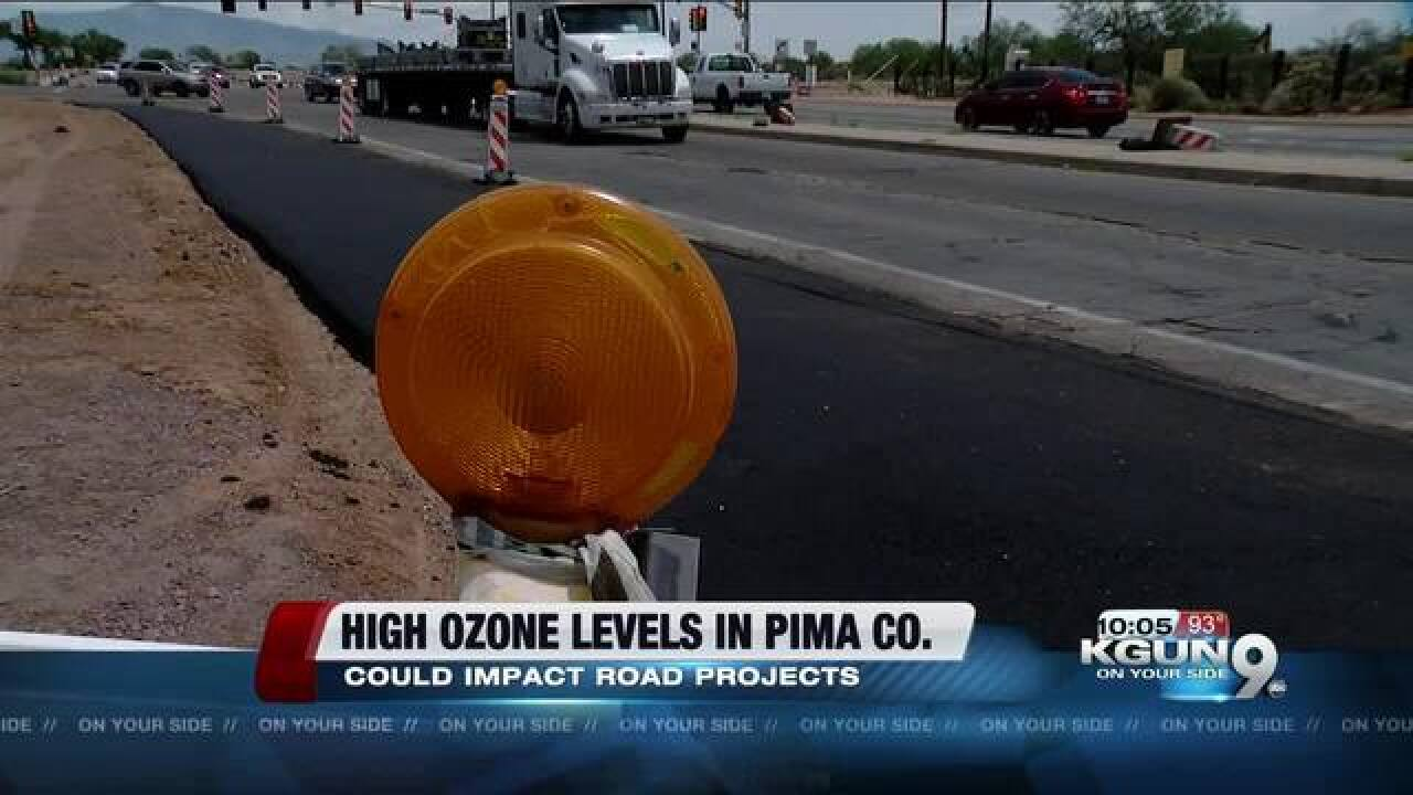 High ozone levels could impact road projects