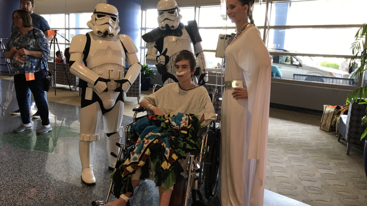 Stars Wars characters visit Children's Hospital