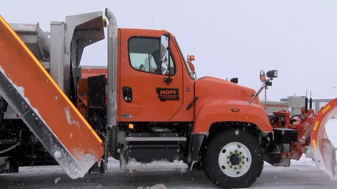 Plow drivers work to keep Montana roads safe during snow storms
