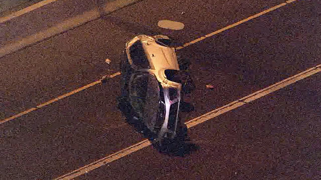 Rollover crash on SR 51