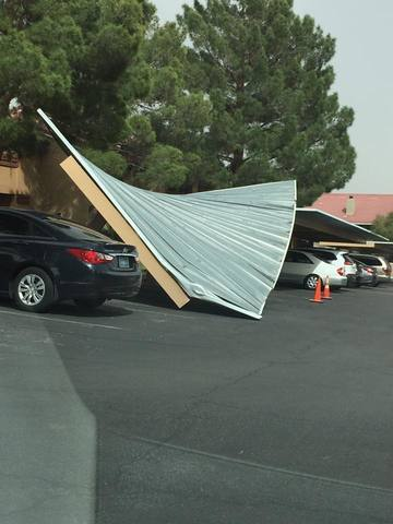 PHOTOS: Dust and wind cause problems in Las Vegas