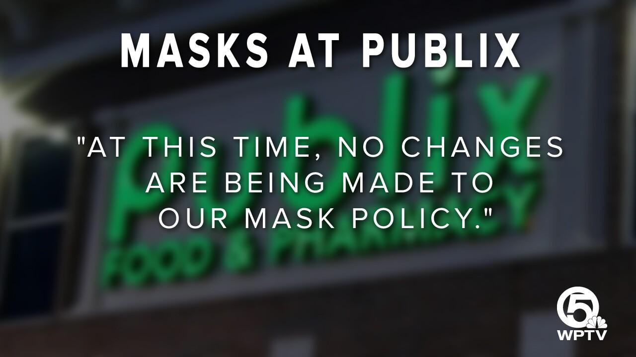 'Masks at Publix' graphic