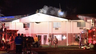 A child playing with matches caused a two-alarm apartment fire in Ohio, officials say
