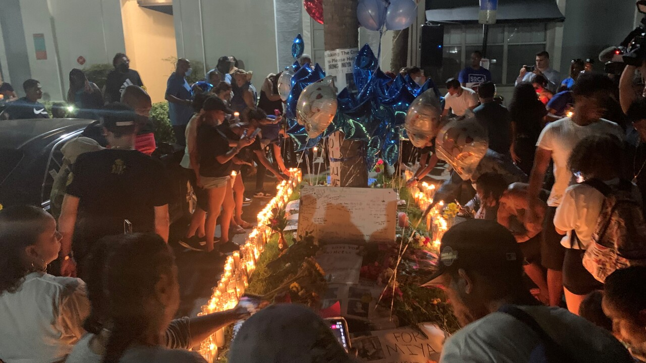 Family and friends of Miya Marcano came together at her apartment in Orlando for a vigil after her body was found in a wooded area Saturday.