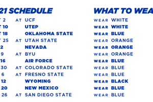 2021 Boise State Football Schedule