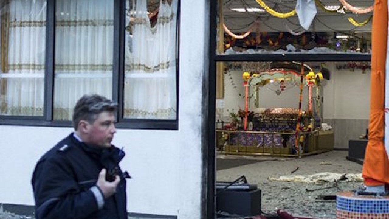 Explosion injures 3 at Sikh temple in Germany