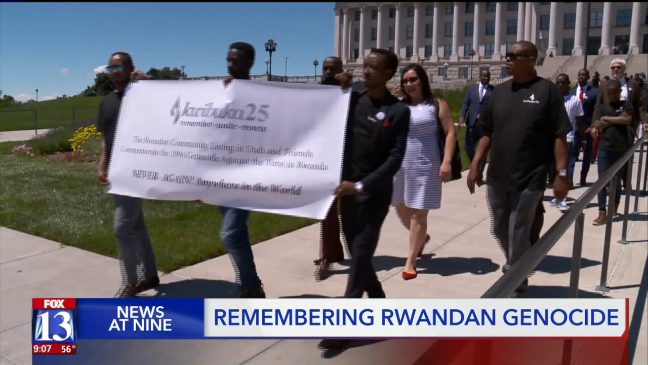 Rwandan Genocide survivors in Utah take part in day of remembrance on 25th anniversary