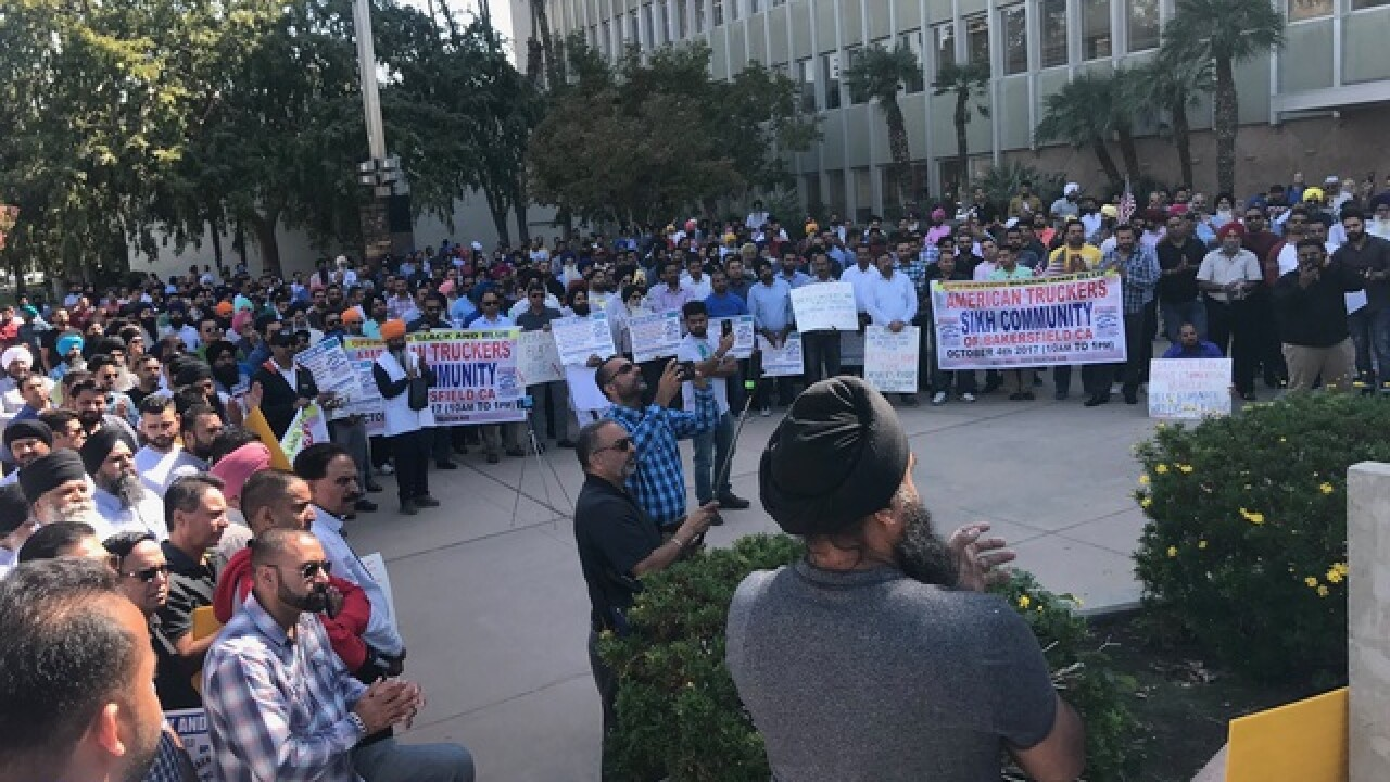 Sikh community to protest truck driver mandates