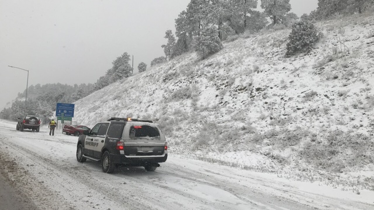 Photos: Snow moves across Front Range Monday