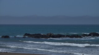 Low clouds on the horizon off Cambria