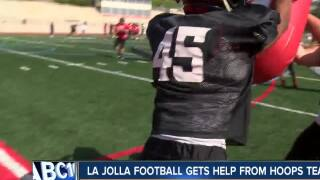 La Jolla High football gets help from basketball team