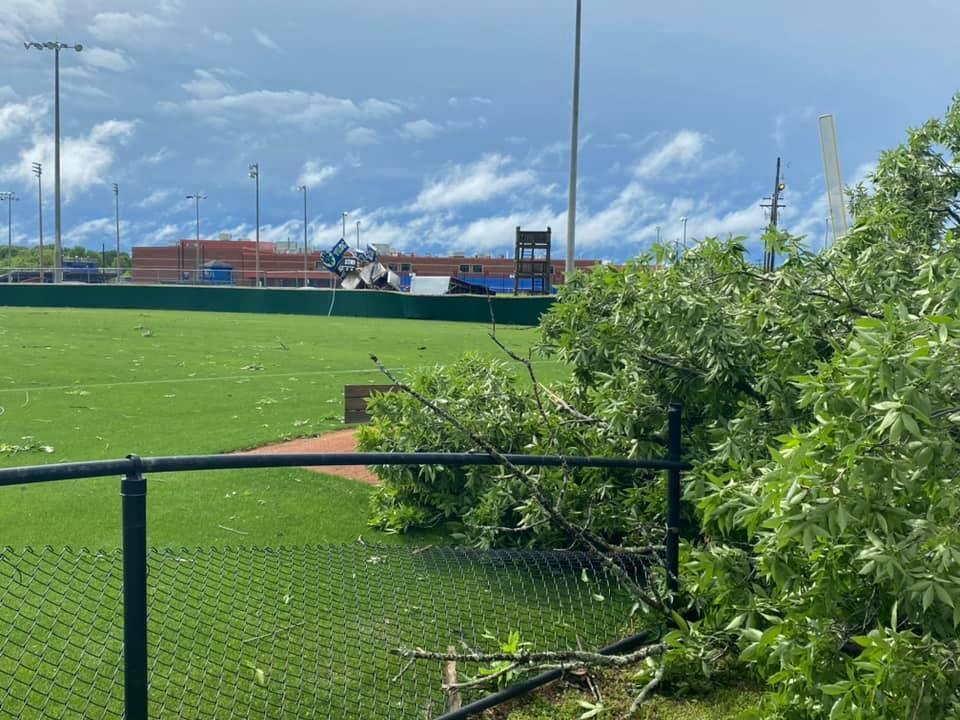 Wilson Central High basbeall field damage